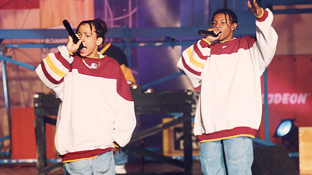 PHOTO: Kris Kross performs during the 1993 Kids Choice Awards in Los Angeles, Calif.
