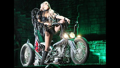 PHOTO: American singer and songwriter Lady Gaga performs on stage during her concert at Taipei Nangang Exhibition Center on May 18, 2012 in Taipei, Taiwan of China.