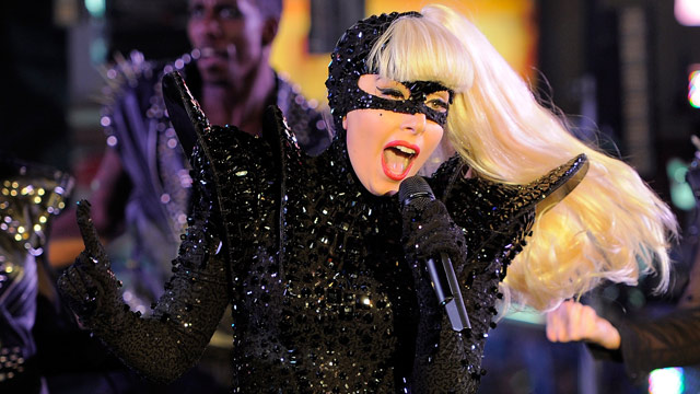 PHOTO: Singer Lady Gaga performs at New Year's Eve 2012 in Times Square on December 31, 2011 in New York City.