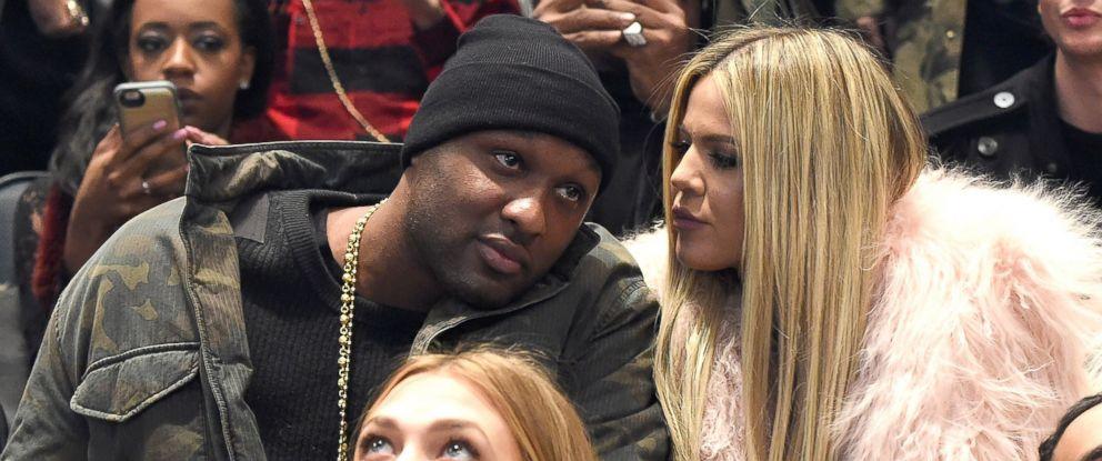 Photo Lamar Odom And Khloe Kardashian Attend Kanye Wests Fashion Show At Madison Square Garden