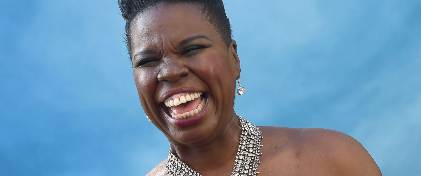 "PHOTO: Leslie Jones arrives at the premiere of ""Ghostbusters"" at TCL Chinese Theatre on July 9, 2016 in Hollywood, California."