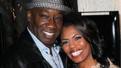 "PHOTO: Actor Michael Clarke Duncan (L) and TV personality Omarosa Manigault-Stallworth attend the premiere of Relativity Media's ""Act of Valor"" at ArcLight Cinemas on February 13, 2012 in Hollywood, California."