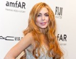 PHOTO: Actress Lindsay Lohan attends amfAR New York Gala To Kick Off Fall 2013 Fashion Week at 499 Seventh Avenue, Feb. 6, 2013 in New York.