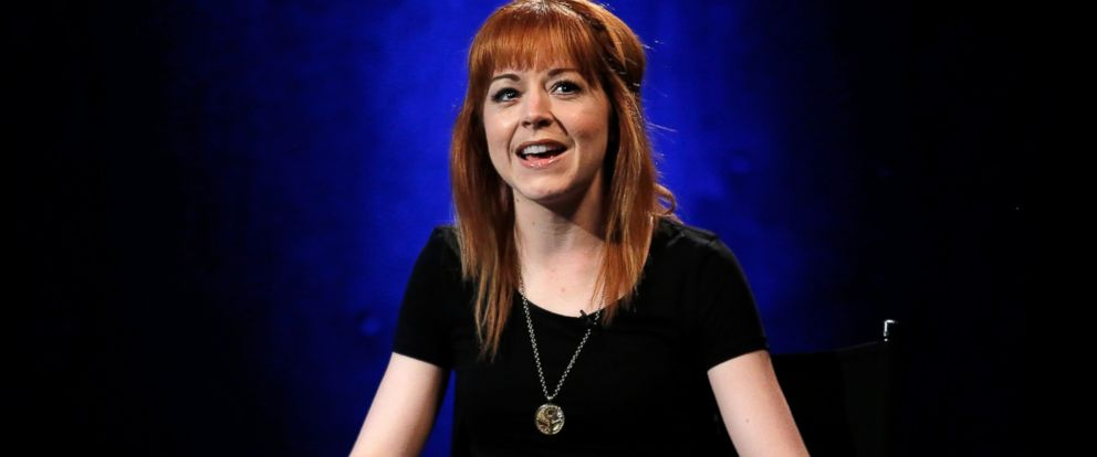 PHOTO: Musician Lindsey Stirling speaks during the AOL Build Speakers Series at AOL Studios on July 14, 2014 in New York.