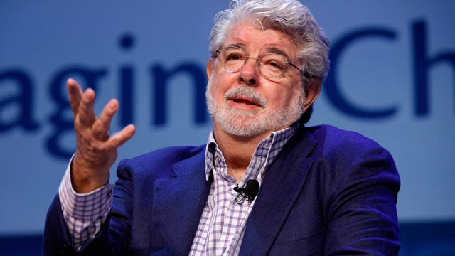 PHOTO: Filmmaker George Lucas addresses the Investment Company Institute's annual general membership meeting at the Marriott Wardman Park hotel May 11, 2012 in Washington, DC in this file photo.