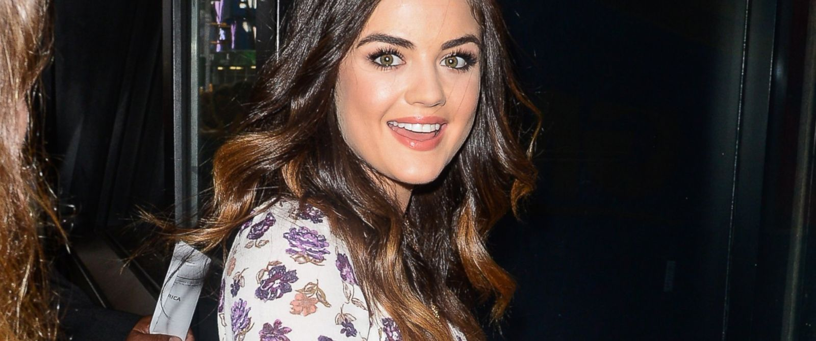 "PHOTO: Actress and singer Lucy Hale enters the ""Good Morning America"" taping at the ABC Times Square Studios on June 30, 2014 in New York City."