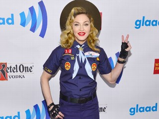 Madonna Mocks Boy Scouts in Uniform