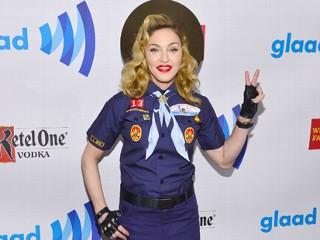 Madonna Mocks Boy Scouts in Uniform