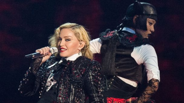 PHOTO: Madonna performs on stage for the BRIT Awards 2015 at The O2 Arena on Feb. 25, 2015 in London.