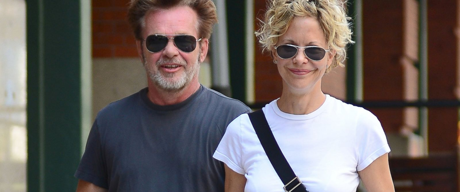 PHOTO: Meg Ryan and John Mellencamp are seen in Tribeca on June 24, 2013 in New York City.