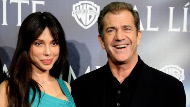 "PHOTO: Actor Mel Gibson and girlfriend Oksana Grigorieva attend ""Edge of the Darkness"" premiere, Feb. 1, 2010 in Madrid, Spain."