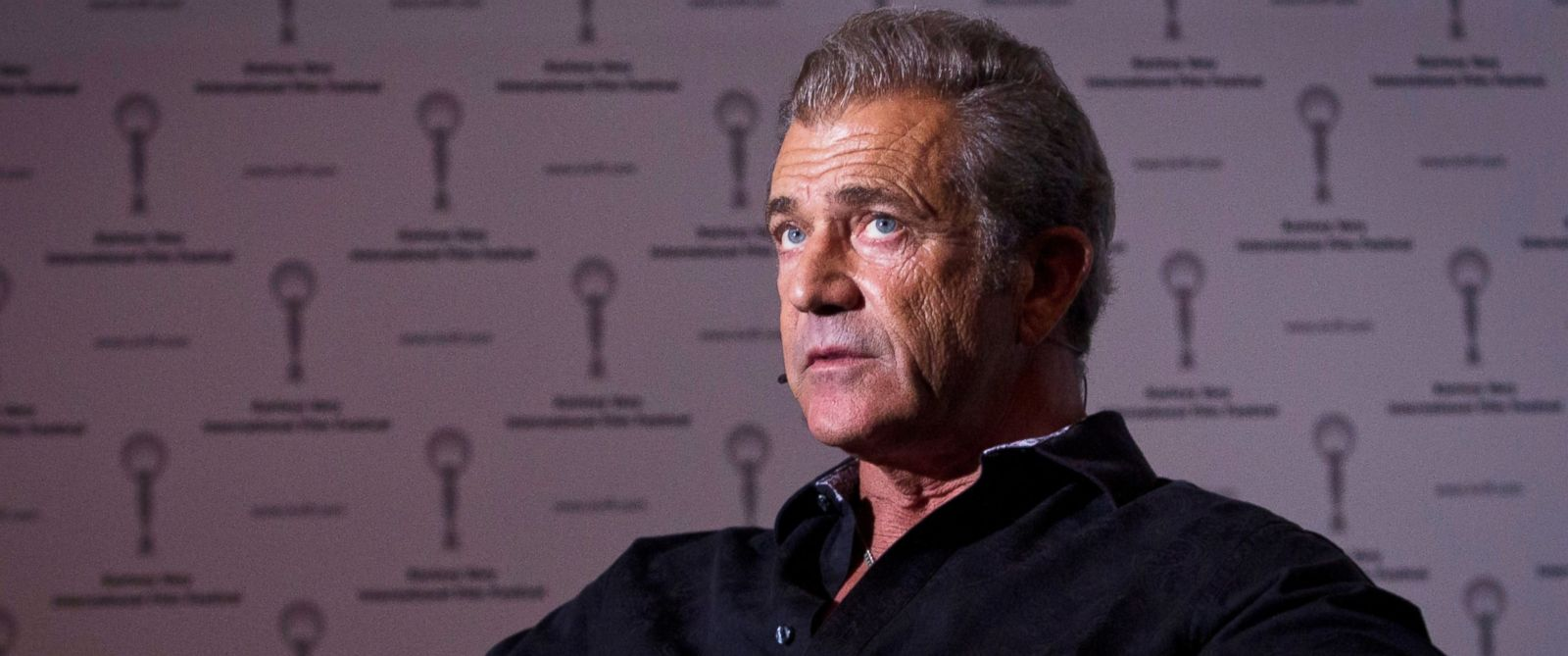 PHOTO: Actor Mel Gibson speaks at the 49th Karlovy Vary International Film Festival on July 5, 2014 in Karlovy Vary, Czech Republic.