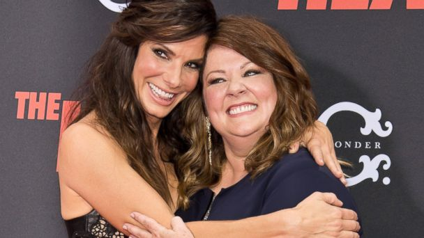 "PHOTO: Sandra Bullock, left, and Melissa McCarthy attend ""The Heat"" premiere at the Ziegfeld Theatre, June 23, 2013, in New York."