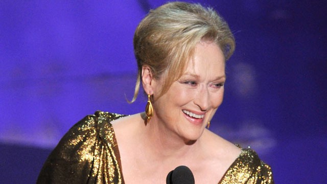 PHOTO:Meryl Streep accepts the Best Actress Award for 'The Iron Lady' onstage during the 84th Annual Academy Awards February 26, 2012 in Hollywood, Calif.
