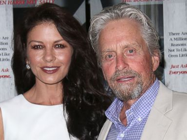 PHOTO: Catherine Zeta Jones and Michael Douglas attend the And So It Goes premiere on July 6, 2014 in East Hampton, New York.