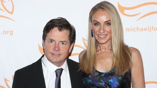 Stars celebrate thanksgiving 2014 abc news for Michael j fox and tracy pollan love story