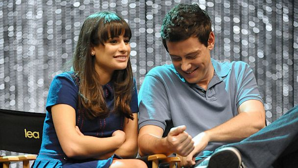 PHOTO: Lea Michele and Cory Monteith attend the GLEE 300th musical performance special taping at Paramount Studios on October 26, 2011 in Hollywood.