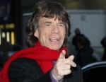 "PHOTO: Singer Mick Jagger arrives to ""Late Show with David Letterman"" at Ed Sullivan Theater, Dec. 11, 2012 in New York City."