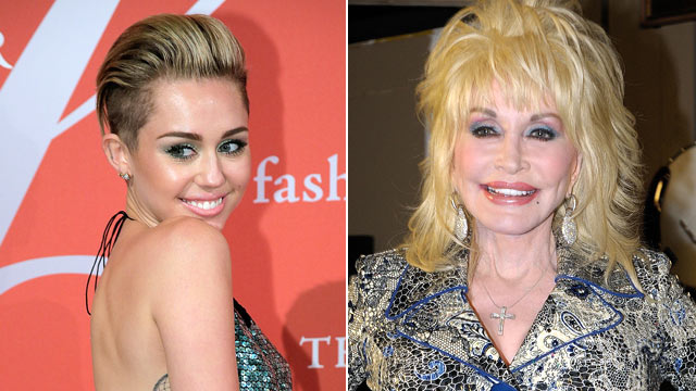 PHOTO: Miley Cyrus Dolly Parton
