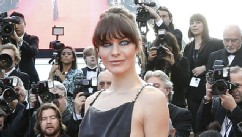 Milla Jovovich Wears Racy Dress