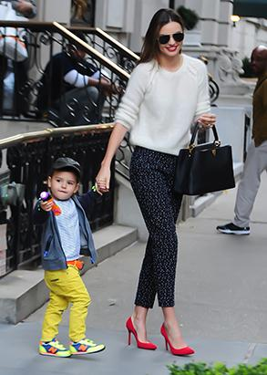 Inside Miranda Kerr and Flynn's Colorful Outing