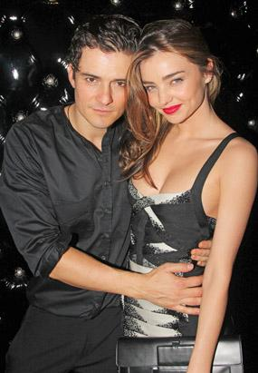 Orlando Bloom and Miranda Kerr Get Cuddly
