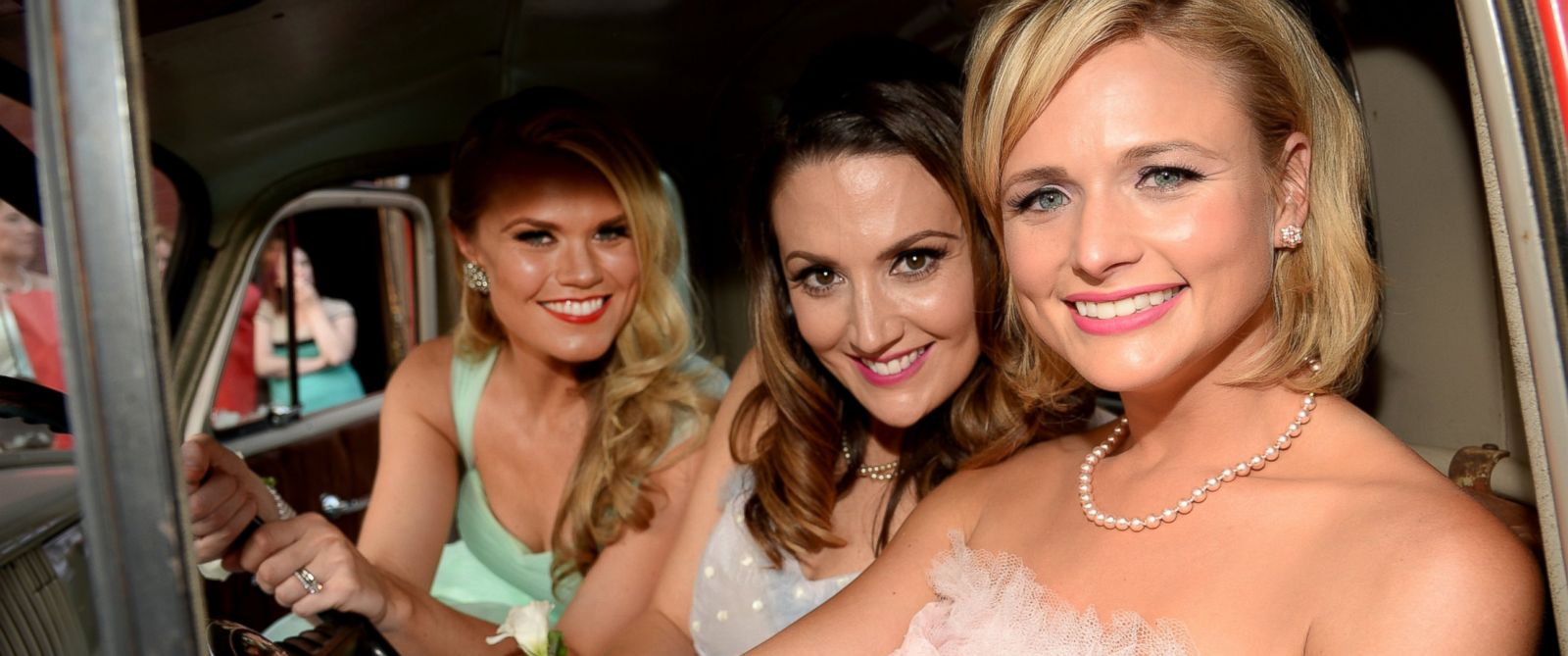"PHOTO: Co-writers Nicolle Galyon and Natalie Hemby and Miranda Lambert attend the ""Automatic"" No. 1 party on June 30, 2014 in Nashville, Tennessee."