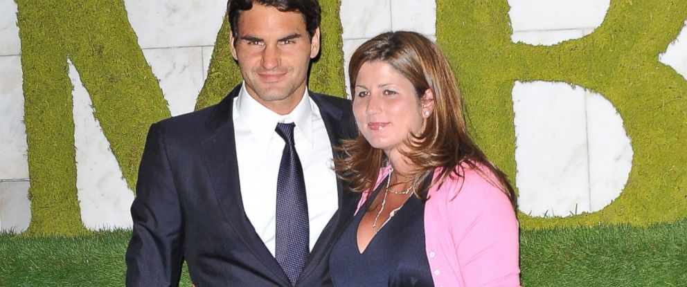 PHOTO: Roger Federer and his wife Mirka Federer are seen in this July 5, 2009 file photo taken in London, England.