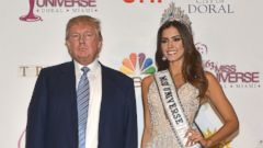 PHOTO: Donald Trump and Miss Universe Paulina Vega are seen in this file photo, Jan. 25, 2015, in Doral, Florida.