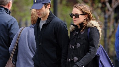 PHOTO: Benjamin Millepied and Natalie Portman in Greenwich Village, April 2011, in New York City.