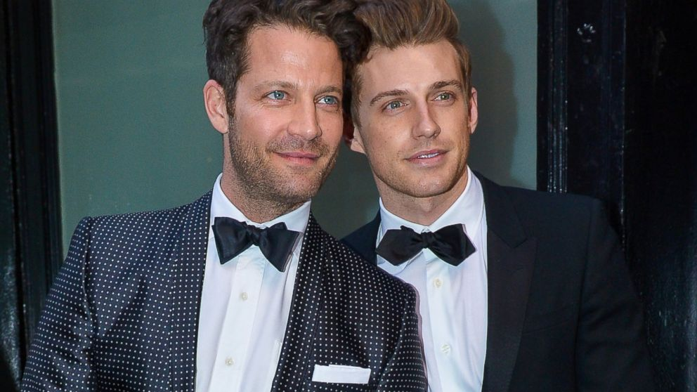 PHOTO: Nate Berkus and Jeremiah Brent are seen on April 24, 2014 in New York City.