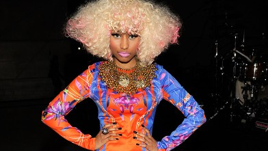 "PHOTO: Singer Nicki Minaj poses during ""VH1 Divas Salute the Troops"" presented by the USO at the MCAS Miramar on December 3, 2010 in Miramar, California."