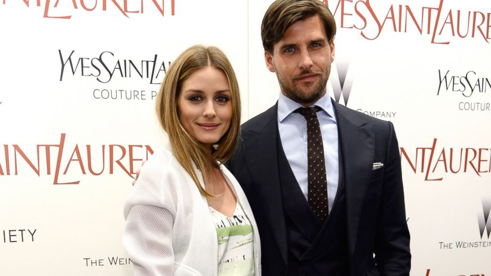 "PHOTO: Olivia Palermo and Johannes Huebl attend The Weinstein Companys ""Yves Saint Laurent"" premiere at Museum of Modern Art on June 16, 2014 in New York City."