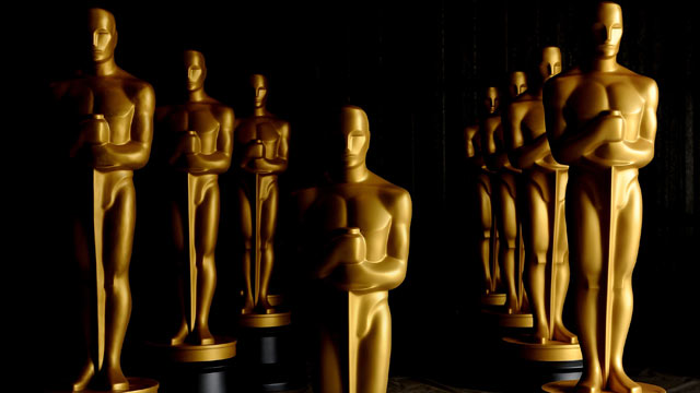 PHOTO: Freshly painted Oscar Statues at a secret location Los Angeles County, Calif.