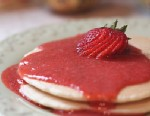 PHOTO: Pancakes with strawberry syrup