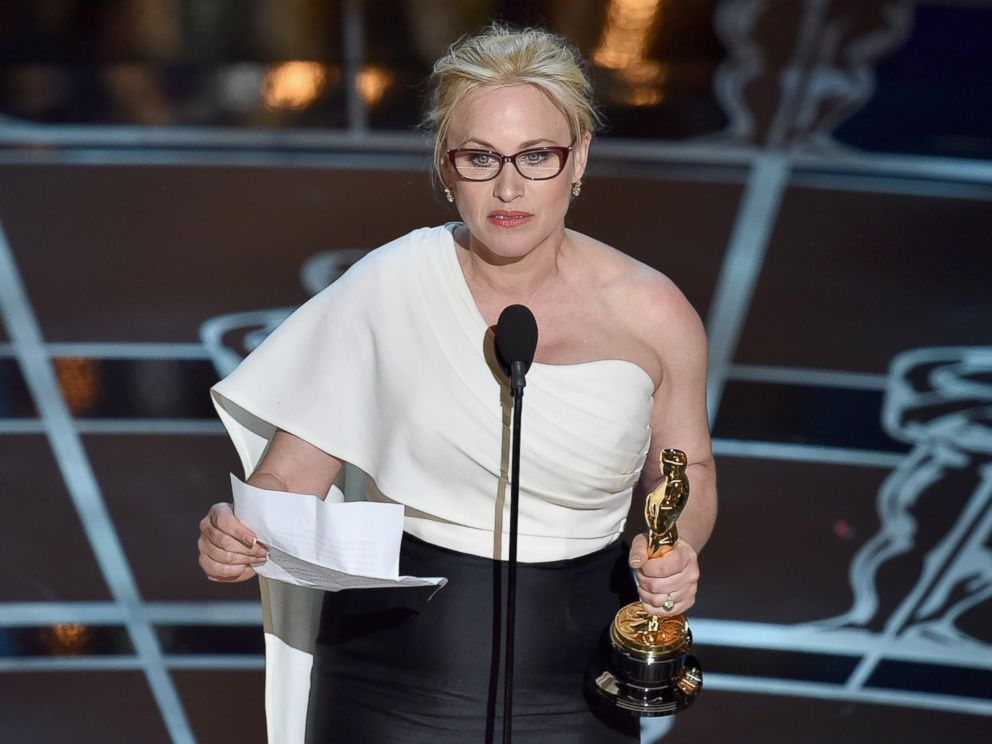 PHOTO: Actress Patricia Arquette accepts the award for Best Actress in a Supporting Role for Boyhood during the 87th Annual Academy Awards, Feb. 22, 2015 in Hollywood, California.