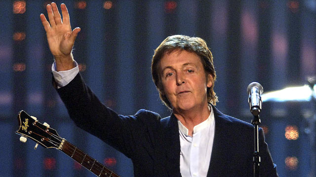 "PHOTO: Paul McCartney performs a medley of ""Fine Line"" and ""Helter Skelter"" in this file photo."