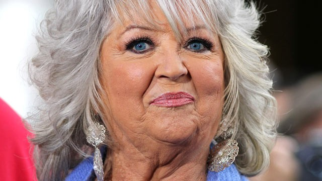 "PHOTO: Paula Deen visits the set of ""Extra"" at The Grove, Oct. 25, 2011 in Los Angeles, Calif."