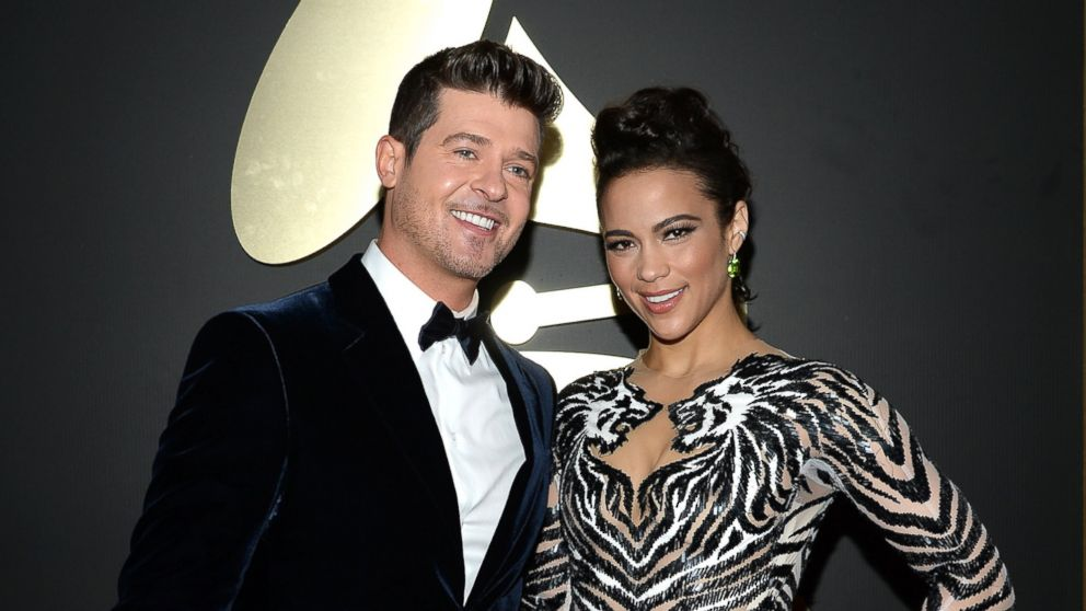PHOTO: Actress Paula Patton and singer Robin Thicke attend the 56th GRAMMY Awards at Staples Center on Jan. 26, 2014 in Los Angeles, Calif.