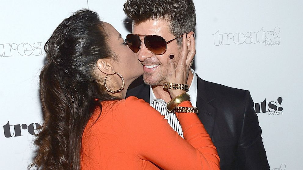 PHOTO: Paula Patton and Robin Thicke