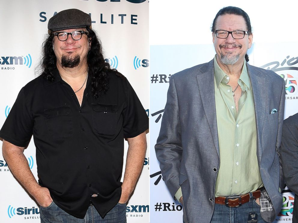 PHOTO: From left, Penn Jillette in 2012 and 2015.