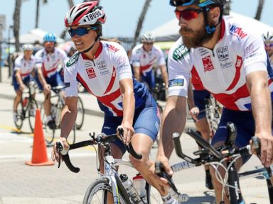 PHOTO: Pippa Middleton and James Middelton are seen at the Race Across America event in Oceanside, California on June 14, 2014 in San Diego, California.
