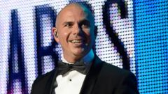 PHOTO: Pitbull speaks onstage during the 2013 American Music Awards at Nokia Theatre L.A. Live on Nov. 24, 2013 in Los Angeles, Calif.