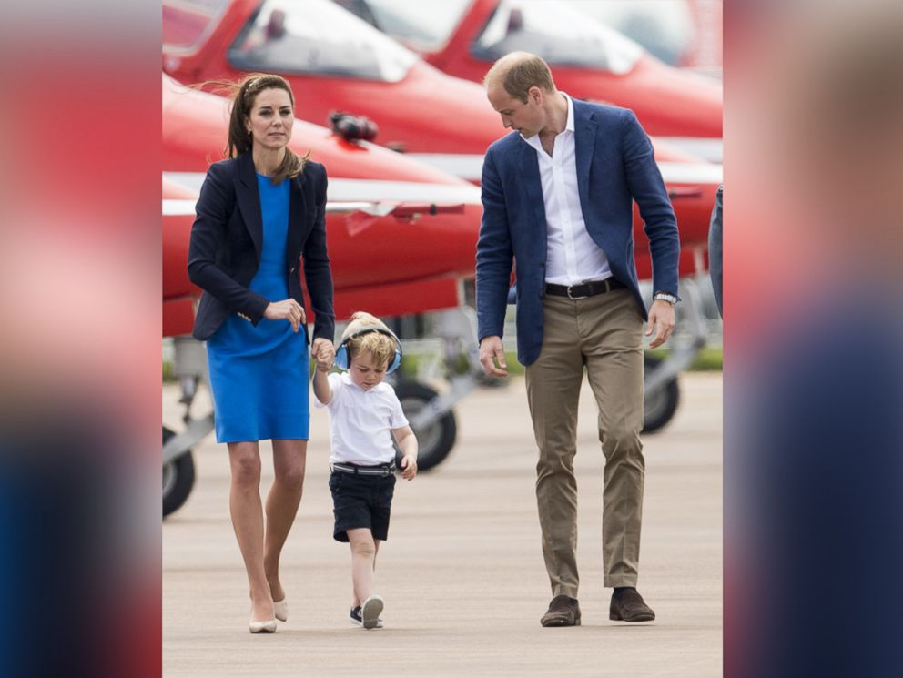 prince george steals the show at air show   abc news