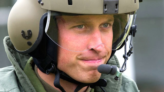 PHOTO: Prince William, Duke of Cambridge, takes part in helicopter maneuvers, in this July 4, 2011 file photo, in Charlottetown, Canada.