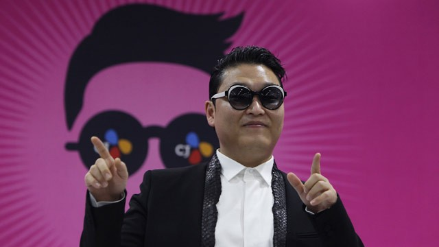 PHOTO: Singer PSY attends a press conference before his concert to introduce his new single Gentleman at Olympic Stadium on April 13, 2013 in Seoul, South Korea.
