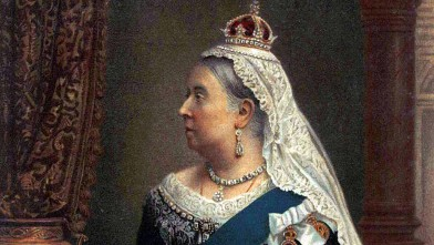 PHOTO: A souvenir portrait of Queen Victoria is shown.