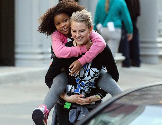 Quvenzhane Wallis Gets A Ride