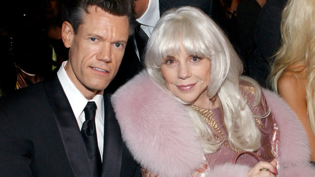 PHOTO: Randy Travis and Elizabeth Travis, are seen at the 46th Annual Grammy Awards, Los Angeles, Feb, 8, 2004.