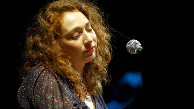 PHOTO: Regina Spektor performs on stage at O2 Academy on July 21, 2010 in Leeds, England.